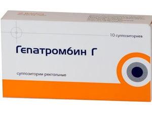 Курс лечения геморроя гепатромбином свечи